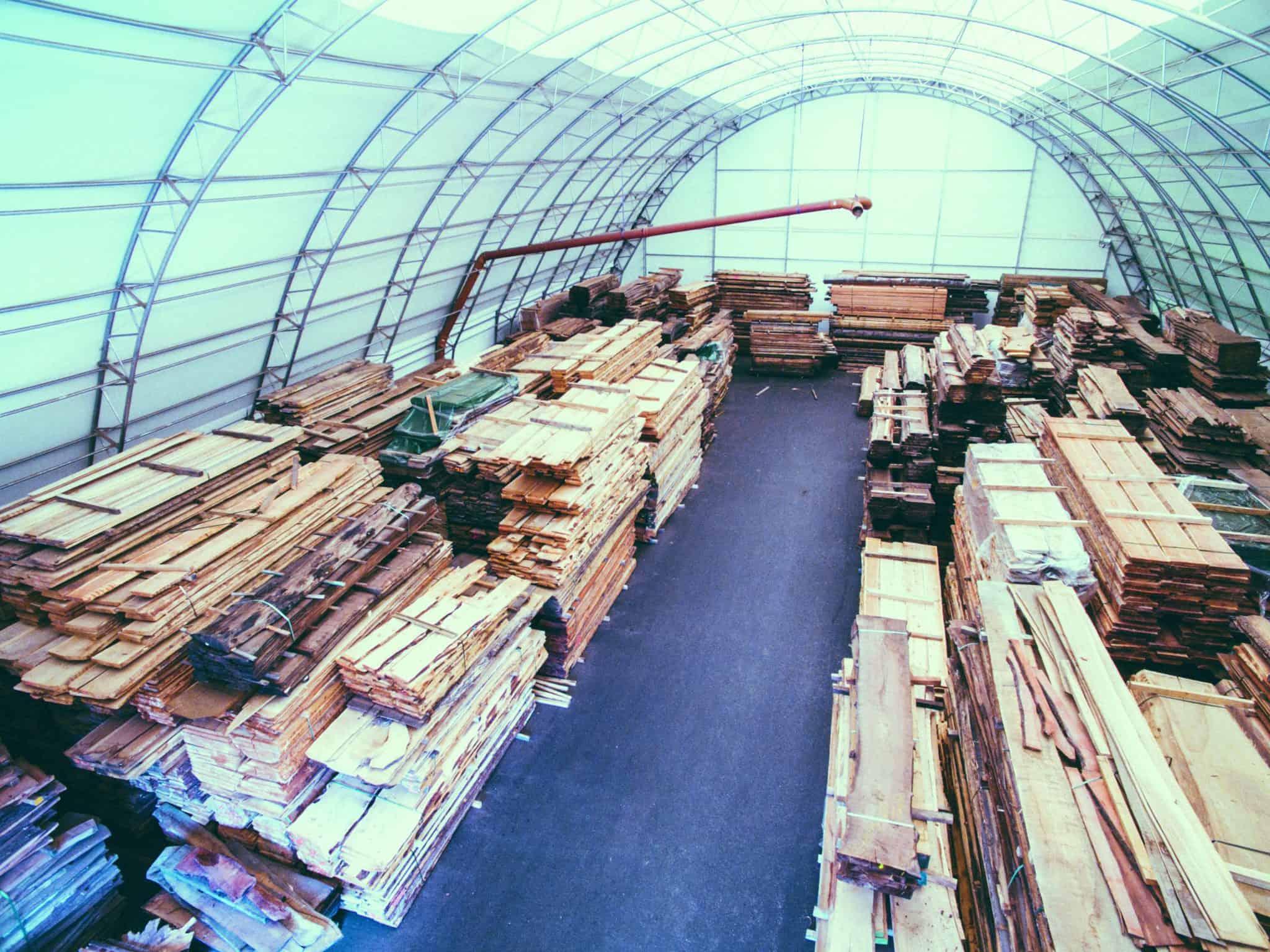 Klimahalle von Schwarz Holzhandel für trockene Hölzer