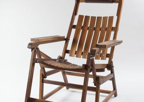 Deckchair (Ruheliege) aus Nussholz