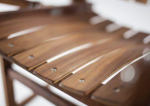 Detail Deckchair (Ruheliege) aus Nussholz